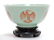 - Very Rare Chinese Celadon-Ground Phoenix Medallion Bowl