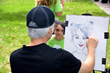Children enjoyed many activities including caricature art.