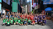 EarthCam Team Celebrating in Times Square, NYC