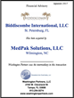 Washington Partners is pleased to announce that Biddiscombe International, LLC, St. Petersburg, Florida has been acquired by MedPak Solutions, LLC, Wilmington, NC.