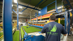 SYNLawn, the country's largest artificial grass manufacturer, makes an industry-first move for ultimate manufacturing cost and quality control.