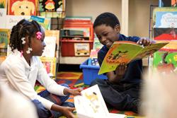 Students Enjoying a Book