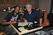 Landau and Steve Tyrell at Wire Road Studio Houston