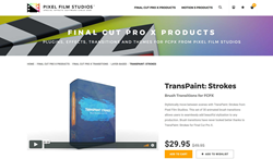 TransPaint Strokes - Pixel Film Transitions - FCPX Plugins
