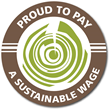 Pioneer Millworks Sustainable Wage Logo