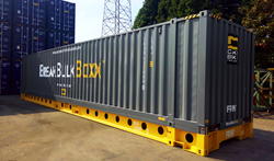 BreakBulkBoxx 45' container. with CakeBoxx 'deck and lid' design