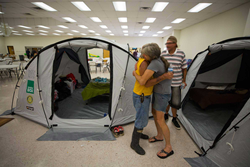 ShelterBox Tents used shelter-in-shelter solution in Texas following Hurricane Harvey