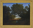 "Attributed To N.-V. Diaz de la Pena, ""Figure Beside Woodland Pool"" realized $60,500."