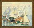 """Hayley Lever's, """"Eastern Yacht Club Regatta, Marblehead, MA"""" realized $36,300."""