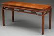 Huanghuali and Hardwood Corner Leg Side Table realized $33,880.