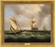 "James Edward Buttersworth's, ""Shipping In a Busy Channel"" realized $23,595."