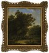 "Barend Cornelis Koekkoek's ""Traveler In a Forest Landscape"" realized $19,360."