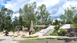 Civitas recently updated features of this St. Patrick's Island Park playground, including a new rock climbing wall and polished concrete slide.