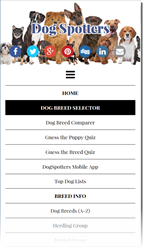Dogspotters.com menu of interactive features