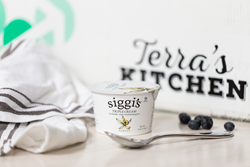 Siggi's skyr yogurt is delivered individually by Terra's Kitchen, or paired with Michele's Granola