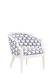 Claire Barrel Chair in White Finish