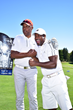 Julius Erving and Chris Tucker share a moment at The 2016 Julius Erving Golf Classic presented by Delta Air Lines in Philadelphia at The ACE Club.
