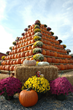 Giant Pumpkin Pyramid is the center piece of the South Jersey Pumpkin Show