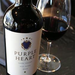 Purple Heart Wine bottles