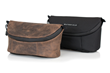 WaterField iPhone Camera Bag—premium chocolate leather or black ballistic nylon