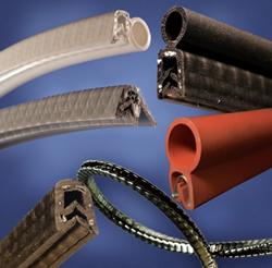 Spring-Fast® SL Series Grommet Edgings (black);  Seal-Fast™ Silicone Seals & Trim-Fast™ Silicone Edge trims  (white, gray, black and red)