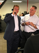 Joe Theismann, a former star quarterback for the NFL's Washington Redskins, takes part in Cantor Fitzgerald Charity Day on behalf of Shelters to Shutters