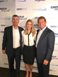(L to R) Shelters to Shutters' CEO Andy Helmer and Dir of Marketing Kristen Fagley, join Joe Theismann, NFL great as he represents Shelters to Shutters at Cantor Fitzgerald Charity Day 2017.
