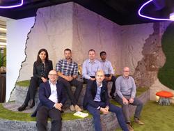 From left to right, Mahgul Ansari, Thomas Balk, Paul Allison, Thomas Beevers, Jules Hull, Sandeep Bathina and Steve Barrett.