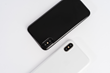 Jet Black and Jet White Peel Cases for iPhone X