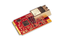 """E4"" Ethernet Over Fiber Mini PCIe expansion module"