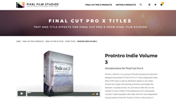 Pixel Film Studios Effects - ProIntro Indie Volume 3 - FCPX Effects