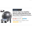 EXOUS Bodygear 65cm Exercise Awarded Amazon's Choice Birthing Ball in the exercise ball category