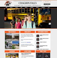 chagrin falls schools website screenshot