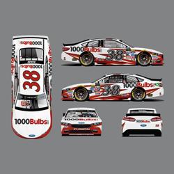 1000Bulbs.com sponsors David Ragain's No. 38 NASCAR.