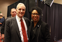 Governor Mark Dayton & Sharon Smith-Akinsanya, founder, People Of Color Career Fairfounder
