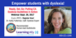 Learning Ally Named as a Reading Accommodation in New California Statewide Dyslexia Guidelines