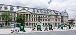 electric advertising bikes by BizzOnWheels