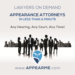 Appearance attorneys on demand
