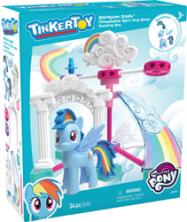 TINKERTOY building sets are inspired by the popular animated series MY LITTLE PONY: Friendship is Magic, currently seen in 180 countries around the world.