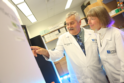 Drs. Carl Morrison and Candace Johnson in the Roswell Park Center for Personalized Medicine