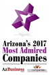46 Companies Honored as Arizona's Most Admired Companies for 2017