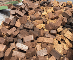 Briquettes made from forest residues
