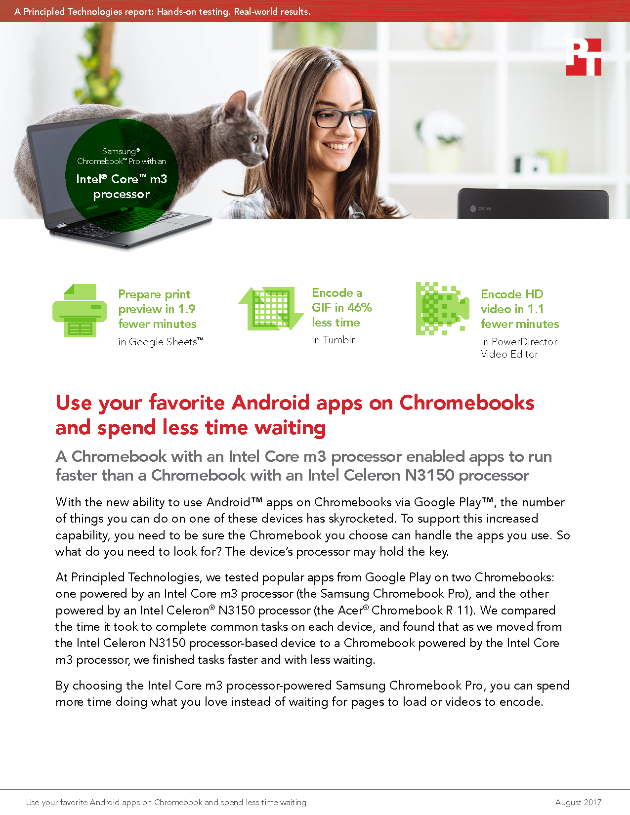 Common Tasks Took Less Time with a Chromebook Powered by an