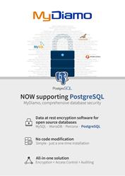MyDiamo open source database encryption PostgreSQL