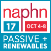 """NAPHN17 Passive + Renewables"" Conference will be held in Oakland, California on October 4-8, 2017 www.naphnconference.com"
