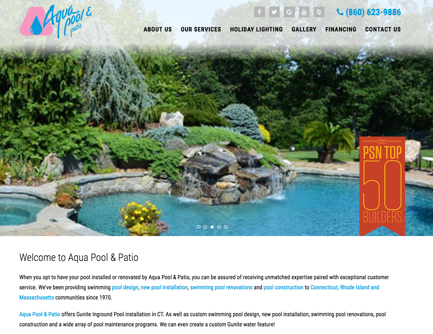 Lighthouse Media unveils new website for Aqua Pools