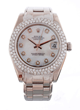 Rolex 18K White Gold Datejust Pearlmaster Watch, estimated at $20,000-25,000.