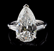 8.05 Carat Pear Shaped Diamond and Platinum Ring, estimated at $90,000-120,000.