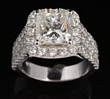 14K White Gold and 3.02 Carat Diamond Ring, estimated at $30,000-50,000.