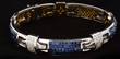 Invisible Set Sapphire and Diamond Two Tone Bracelet, estimated at $15,000-20,000.